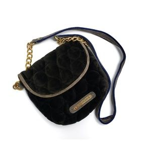 Juicy Couture Quilted Brown & Gold Crossbody Bag